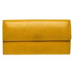 Louis Vuitton Yellow Epi Leather Sarah Wallet