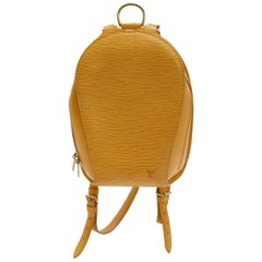 Louis Vuitton Yellow Epi Mabillon Backpack