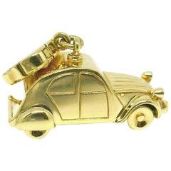 Louis Vuitton Yellow Gold Vintage Car Charm