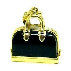 Louis Vuitton Yellow Gold Onyx Handbag Vintage Charm