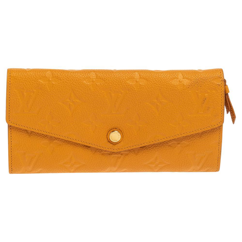 Louis Vuitton Yellow Monogram Empreinte Leather Curieuse Long Wallet