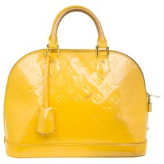 Louis Vuitton Yellow Vernis Monogram Alma PM