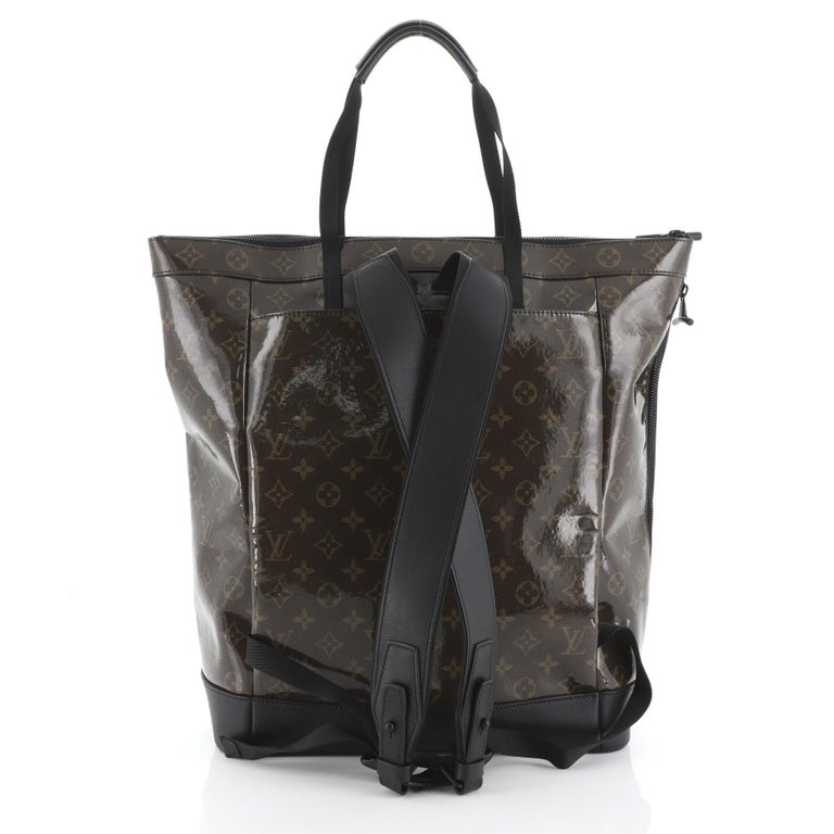 Louis Vuitton Zipped Tote Limited Edition Monogram Glaze Eclipse Canvas In Good Condition For Sale In New York, NY