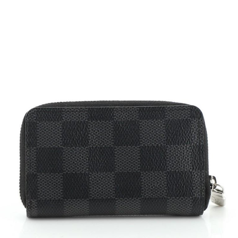 Louis Vuitton Zippy Coin Purse Damier Graphite Vertical In Good Condition For Sale In New York, NY