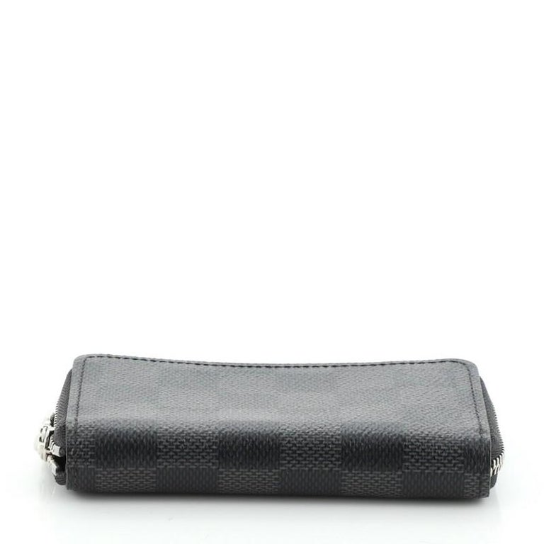 Women's or Men's Louis Vuitton Zippy Coin Purse Damier Graphite Vertical For Sale