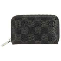 Louis Vuitton Zippy Coin Purse Damier Graphite Vertical