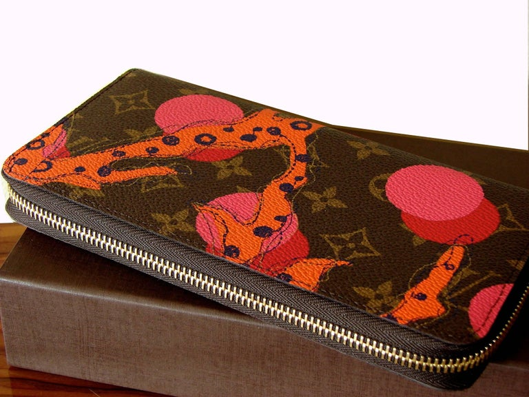 Black Louis Vuitton Zippy Wallet in Monogram Ramages 2015 Limited Edition New In Box For Sale
