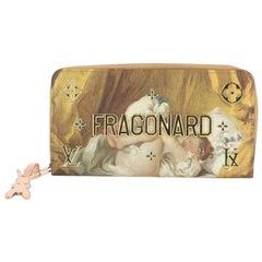 Louis Vuitton Zippy Wallet Limited Edition Jeff Koons Fragonard Print Can