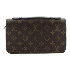 Louis Vuitton Zippy Wallet Macassar Monogram Canvas XL