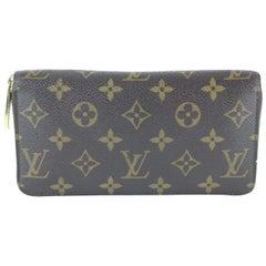 Louis Vuitton Zippy Wallet Monogram Long 12le0109 Brown Coated Canvas Cross Body