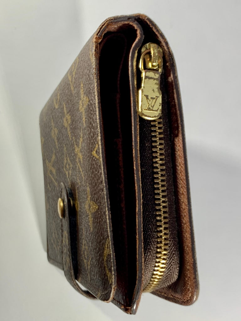 Louis Vuitton Zippy Wallet Porto Papie Zip Brown Monogram Bifold Women Wallet For Sale At 1stdibs