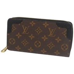 LOUIS VUITTON Zippy Wallet Retiro unisex long wallet M61855 noir