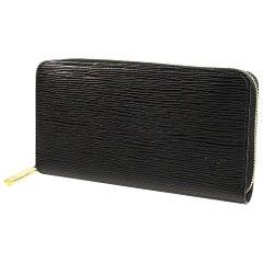 LOUIS VUITTON Zippy Wallet unisex long wallet M68755 noir x gold hardware