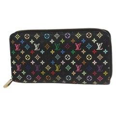 LOUIS VUITTON Zippy Wallet Womens long wallet M60243 noir x Grenard