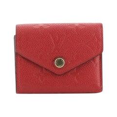 Louis Vuitton Zoe Wallet Monogram Empreinte Leather