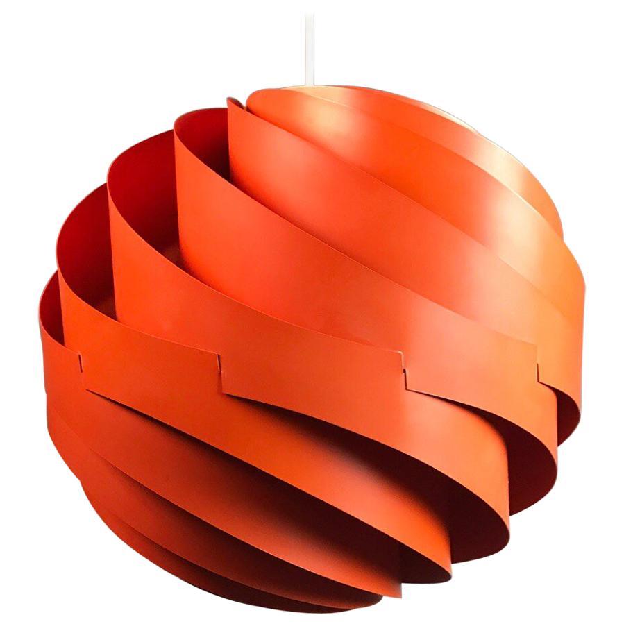 Louis Weisdorf Ceiling Pendant Turbo by Lyfa, Denmark, 1965