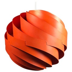 Louis Weisdorf Ceiling Pendant Turbo by Lyfa, Denmark, 1965