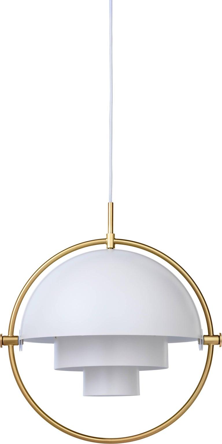 Louis Weisdorf 'Multi-Lite' Pendant Lamp in Brass For Sale 2