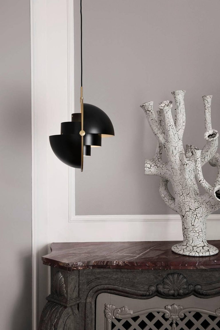 Louis Weisdorf 'Multi-Lite' Pendant Lamp in Brass For Sale 5