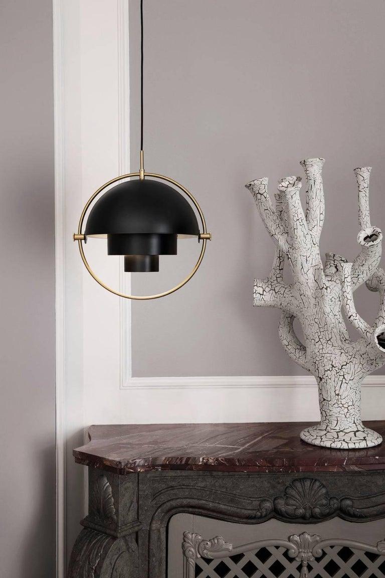 Louis Weisdorf 'Multi-Lite' Pendant Lamp in Brass For Sale 6