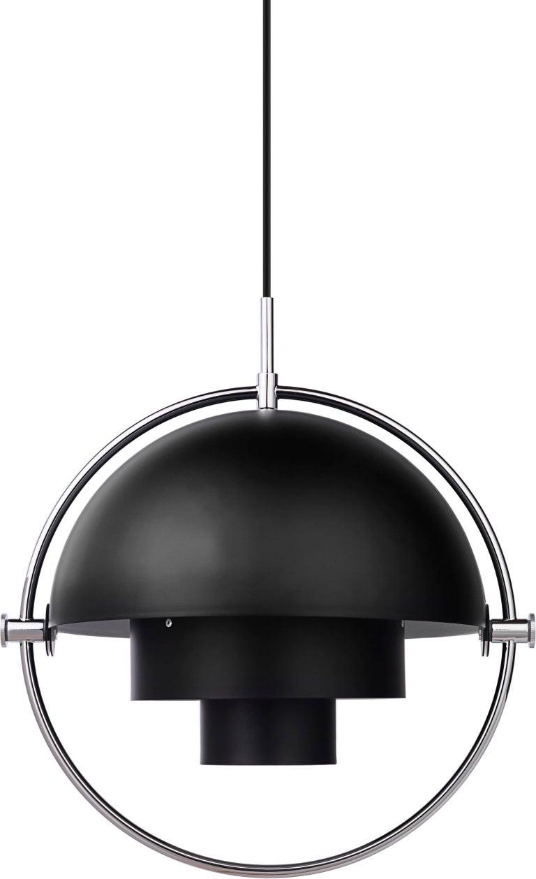 Scandinavian Modern Louis Weisdorf 'Multi-Lite' Pendant Lamp in Brass For Sale