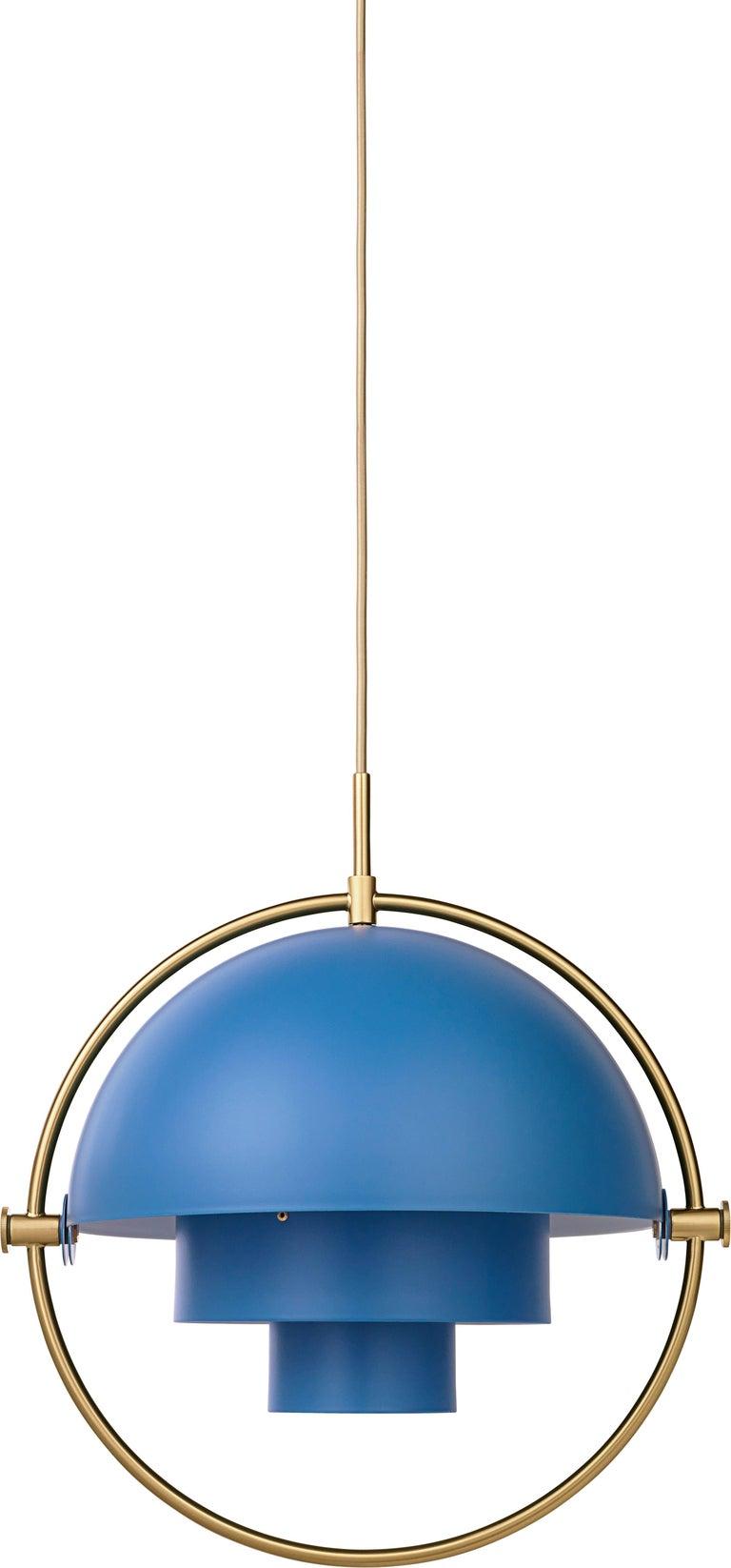 Contemporary Louis Weisdorf 'Multi-Lite' Pendant Lamp in Brass For Sale