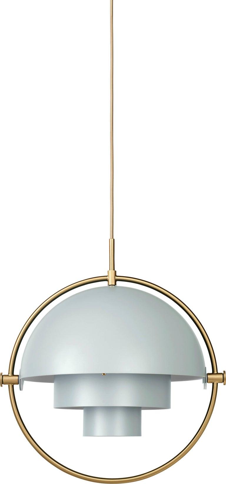 Chrome Louis Weisdorf 'Multi-Lite' Pendant Lamp in Brass For Sale