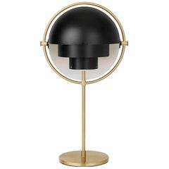 Louis Weisdorf 'Multi-Lite' Table Lamp in Black and Brass