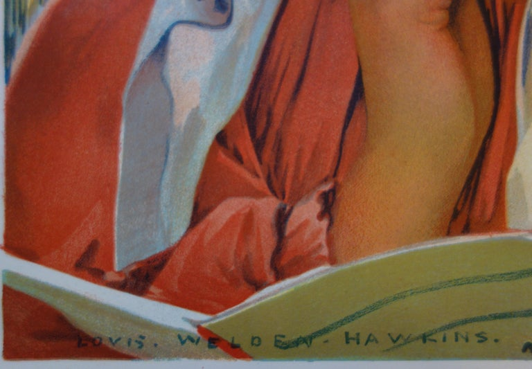 Reading Women - Original lithograph (L'Estampe Moderne 1897-1898) - Print by Louis Welden Hawkins