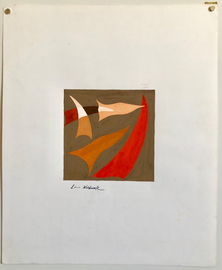 Louis Wolchonok was a social realist painter and member of the Woodstock Art Association. His work was exhibited at the Whitney Museum of American Art, the National Academy of Design and the Philadelphia Academy of Fine Art. This is gouache or oil