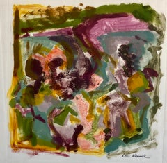 Abstract Expressionist Oil Painting Modern Pastel Monoprint WPA Jewish Artist