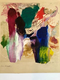 Early Abstract Expressionist Oil Painting  Monoprint WPA Jewish Artist