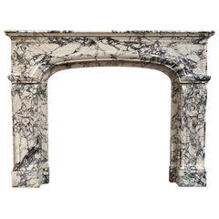 Louis XIII Breche Marble Mantel
