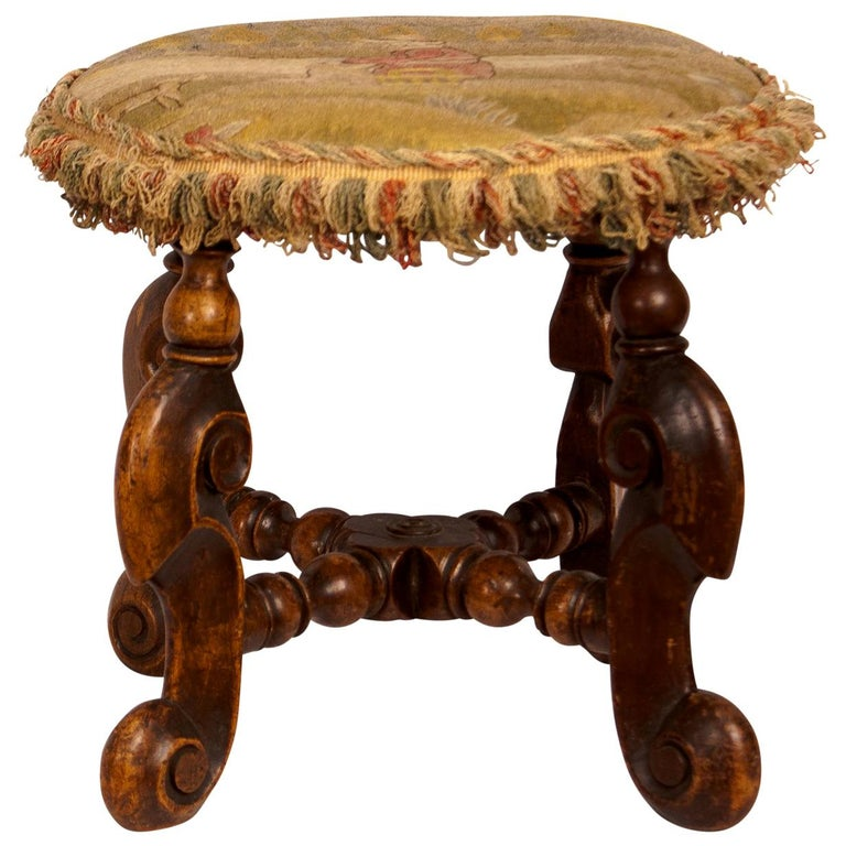 Louis XIII Foot Stool, France, circa 1620 For Sale