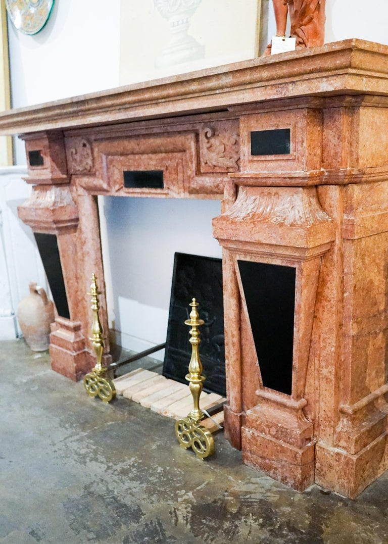 Louis XIII Marble Mantel, circa 1670 For Sale 5