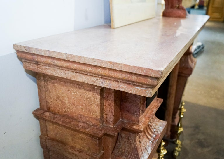 Louis XIII Marble Mantel, circa 1670 For Sale 3