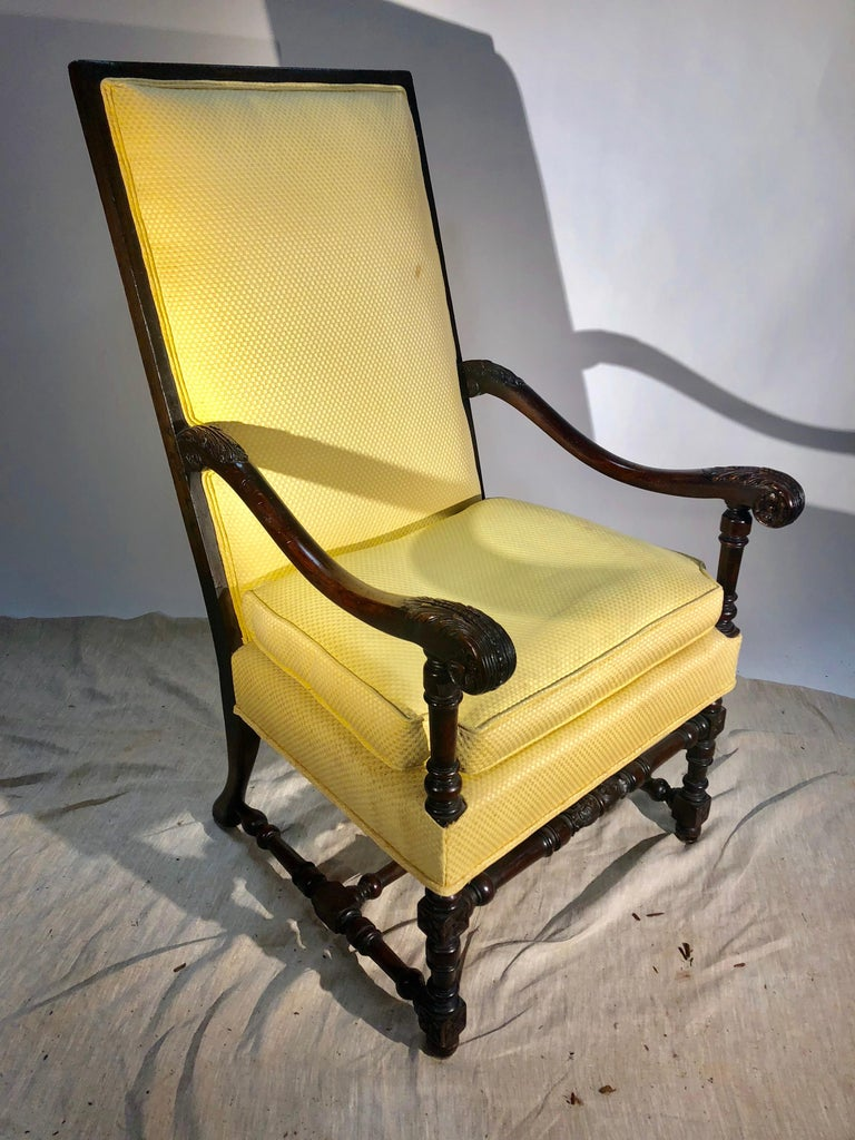Louis XIII Style Armchair, circa 1940 For Sale 5