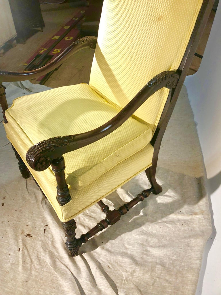Louis XIII Style Armchair, circa 1940 For Sale 3