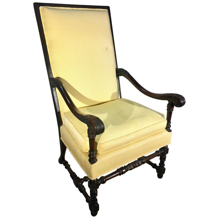Louis XIII Style Armchair, circa 1940 For Sale