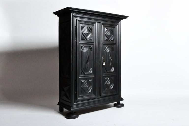 Louis XIII Style Armoire In Good Condition For Sale In Chicago, IL