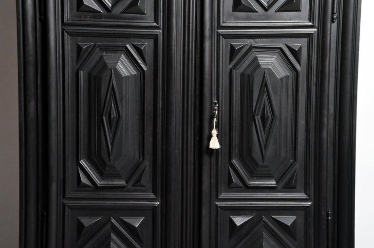 Walnut Louis XIII Style Armoire For Sale