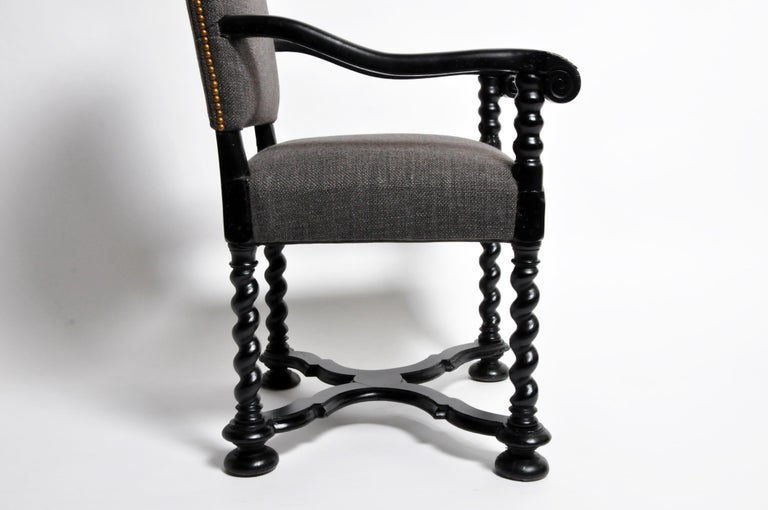 Louis XIII Style Carved Armchair For Sale 9