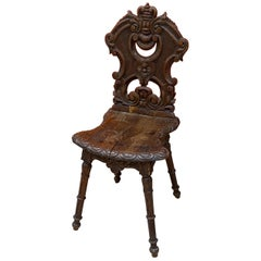 Louis XIII Style Chair in Solid Chair, circa 1900