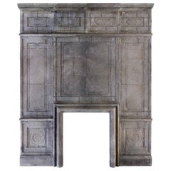 Louis XIII Style Fireplace and Wall Panels in Limestone from France