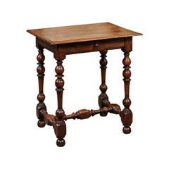 Louis XIII Style French Walnut Petite Side Table, 18th Century