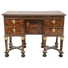 Louis XIV 17th Century Mazarin Marquetry Desk
