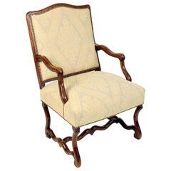 Louis XIV Beech Wood and Oak Armchair