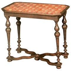 Louis XIV Beechwood and Needlework-Lined Occasional Table