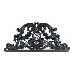 Louis XIV Carved Oak Overdoor with Floral Garland Motif, France, circa 1780