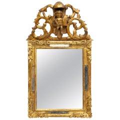 Antique Louis XIV Style Italian Giltwood Wall Mirror